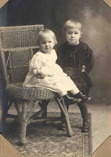 rosa and rich before his hair turned dark brown 1910