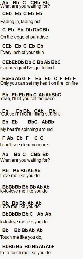 Flute Sheet Music Ellie Goulding Love Me Like You Do Part 2 Music