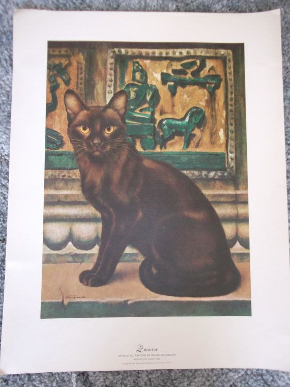 Your Place To Buy And Sell All Things Handmade Cat Print Burmese Cat Original Oil Painting
