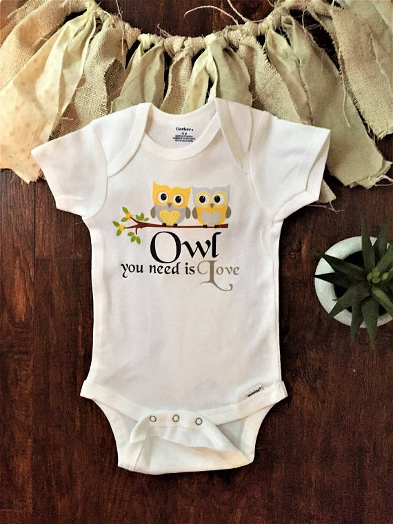 2eee13e89 On Sale Owl always love you onesie® woodland baby clothes | Terrena ...