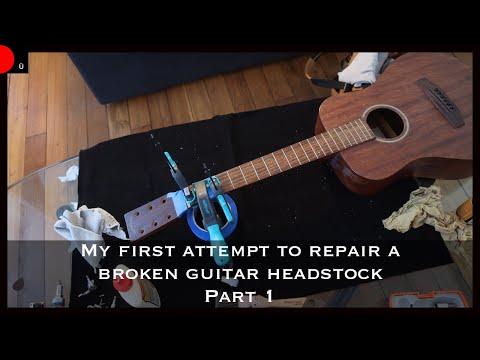 My First Attempt To Repair A Broken Guitar Headstock Part 1 Youtube In 2020 Broken Guitar Guitar Repair