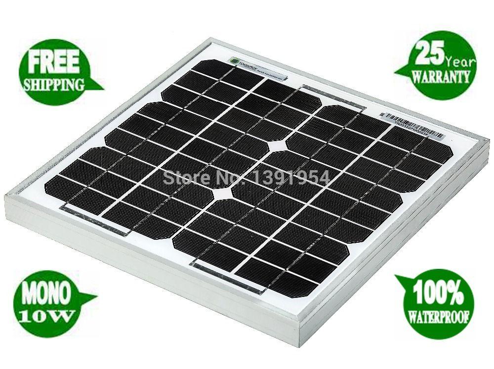 10w 18v Monocrystalline Solar Panel Solar Module For Charging 12v Battery Used For Home Lighting Ca Solar Module Monocrystalline Solar Panels Home Lighting