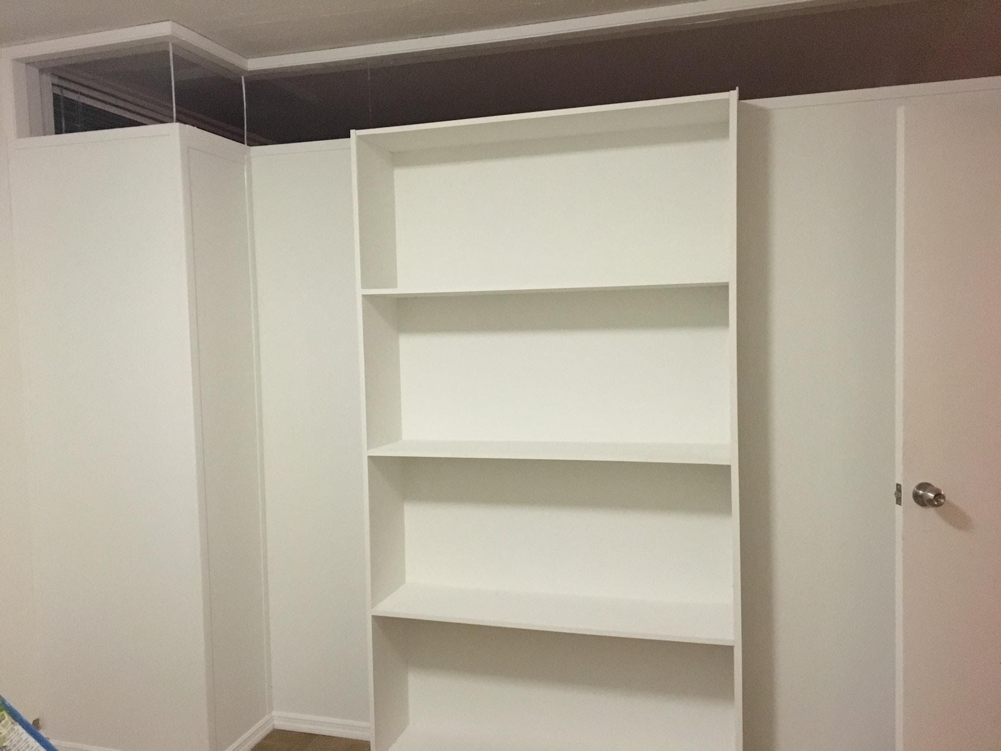 Z shaped bookcase partition with plexiglass top Call us for all