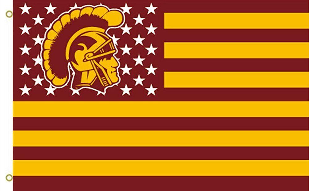 University Southern California Usc Trojans 3 X5 Stars Stripes Banner Flag Usc Trojans Usc Stripes