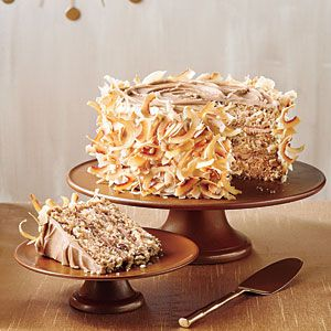 Caramel Italian cream cake.