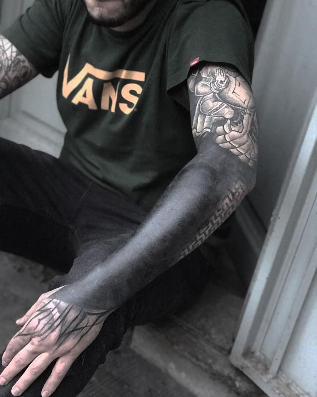 Gianluca Gioia Black Sleeve Tattoo Black Tattoos Solid Black Tattoo