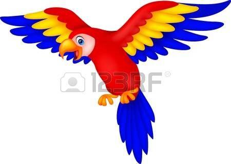 Guacamaya Caricatura Historieta Linda Del Loro Del Pajaro Dibujos De Aves Guacamaya Dibujo Loro Dibujo