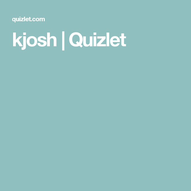 kjosh | Quizlet | Teaching Spanish | Pinterest | Teaching spanish ...