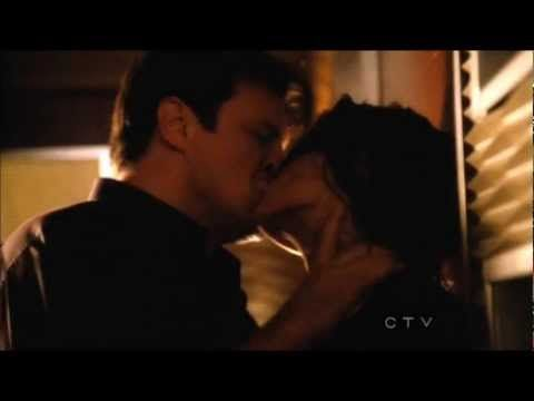 Castle 4x23 'Always' - Steamy kiss scene in Slow motion and