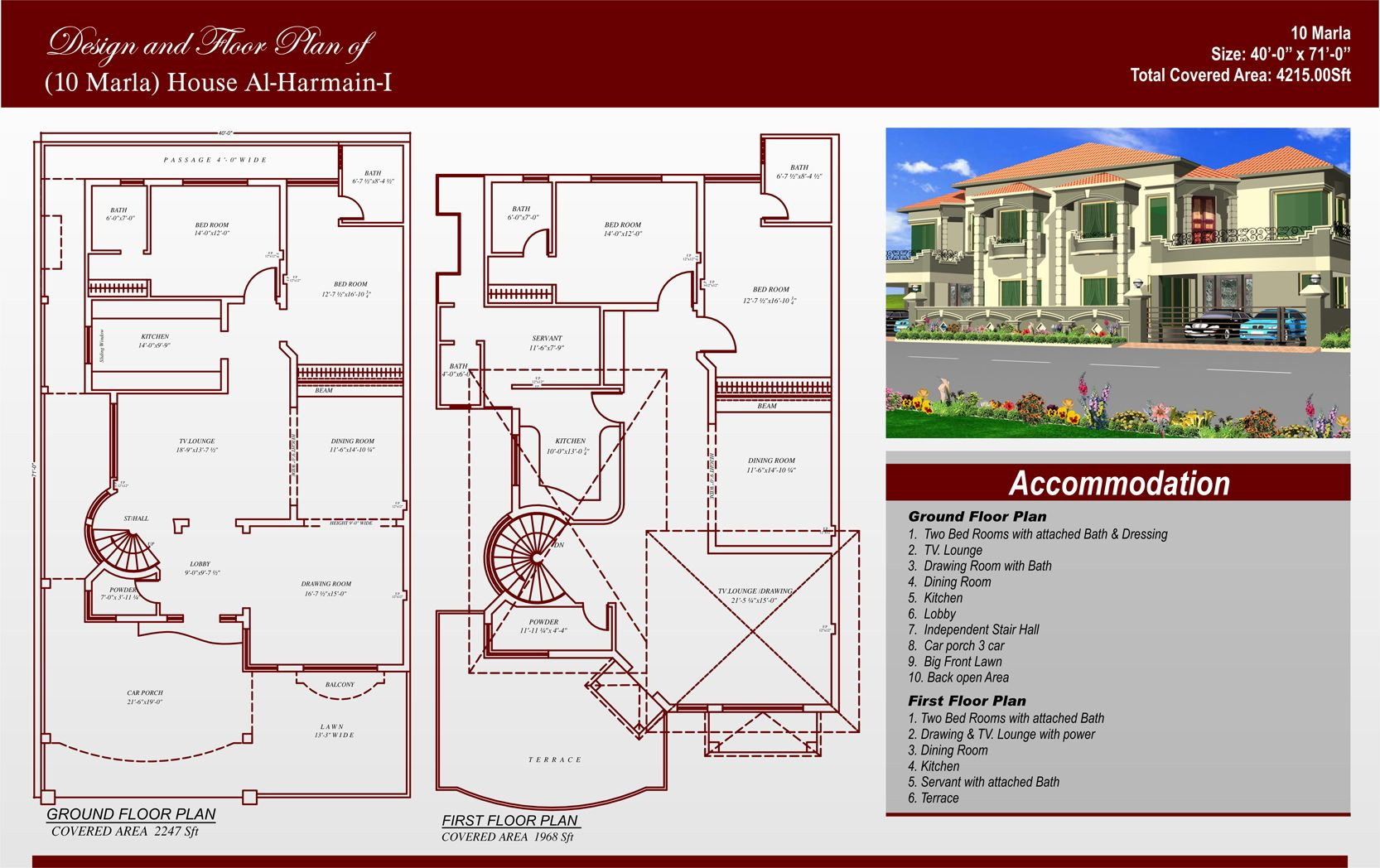 10 marla house map plan