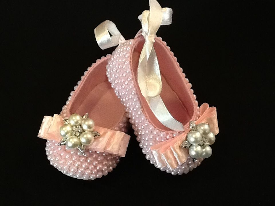 Hand Embellished Baby Shoes Find Great Selection On Etsy Com