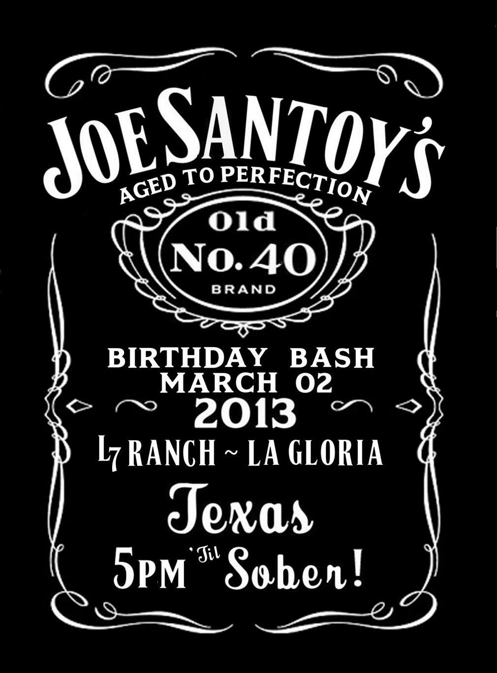 Jack Daniels Inspired 40th Birthday Invite For My Baby Created By Me Birthday Invitation Templates Jack Daniels Birthday Birthday Invitations Kids