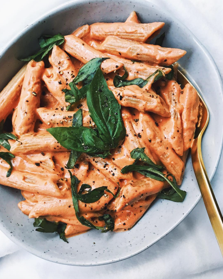 Pasta With Vegan Cashew Cream Tomato Sauce - Walder Wellness, RD | Simple, Healthy Whole Food Recipes