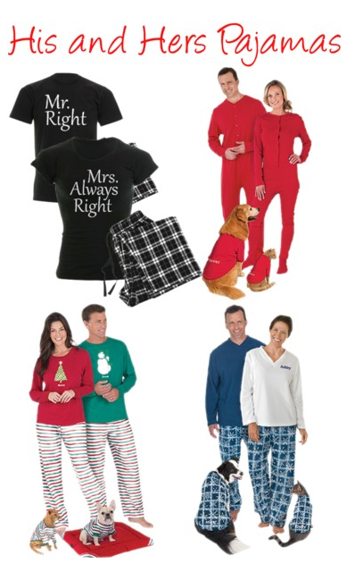 fca567d748 Matching pajama sets for couples are a fun gift for weddings or  anniversaries...you can even order matching pajamas for their cat or dog.