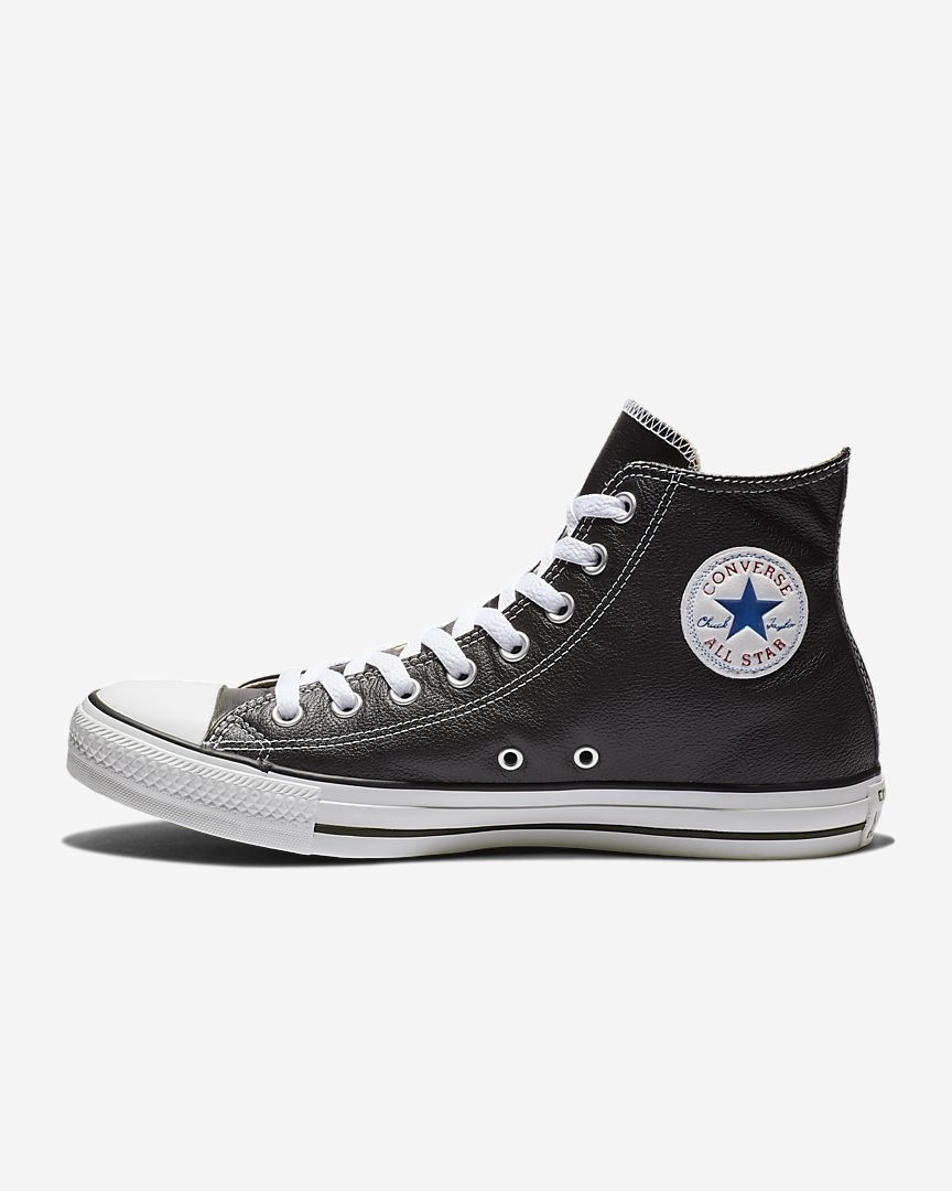 fe953fe53e6c37 Converse Chuck Taylor All Star Leather Unisex High Top Shoe
