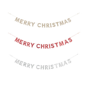 1.8m Glittered Merry Christmas Bunting - Assorted ...