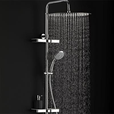 colonne de douche dome de pluie