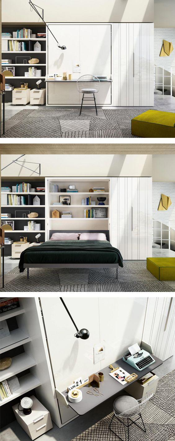 clei penelope 2 schrankbett mit schreibtisch betten. Black Bedroom Furniture Sets. Home Design Ideas