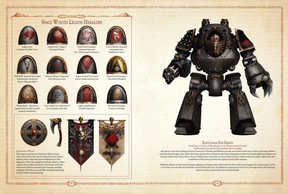 Bits 40K Space Wolves Power Armour 3 X CHAPTER ICONS
