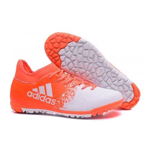 online retailer 6cdc9 f7e0d Adidas X 16.3 TF Botas de Fútbol Blanco Naranja