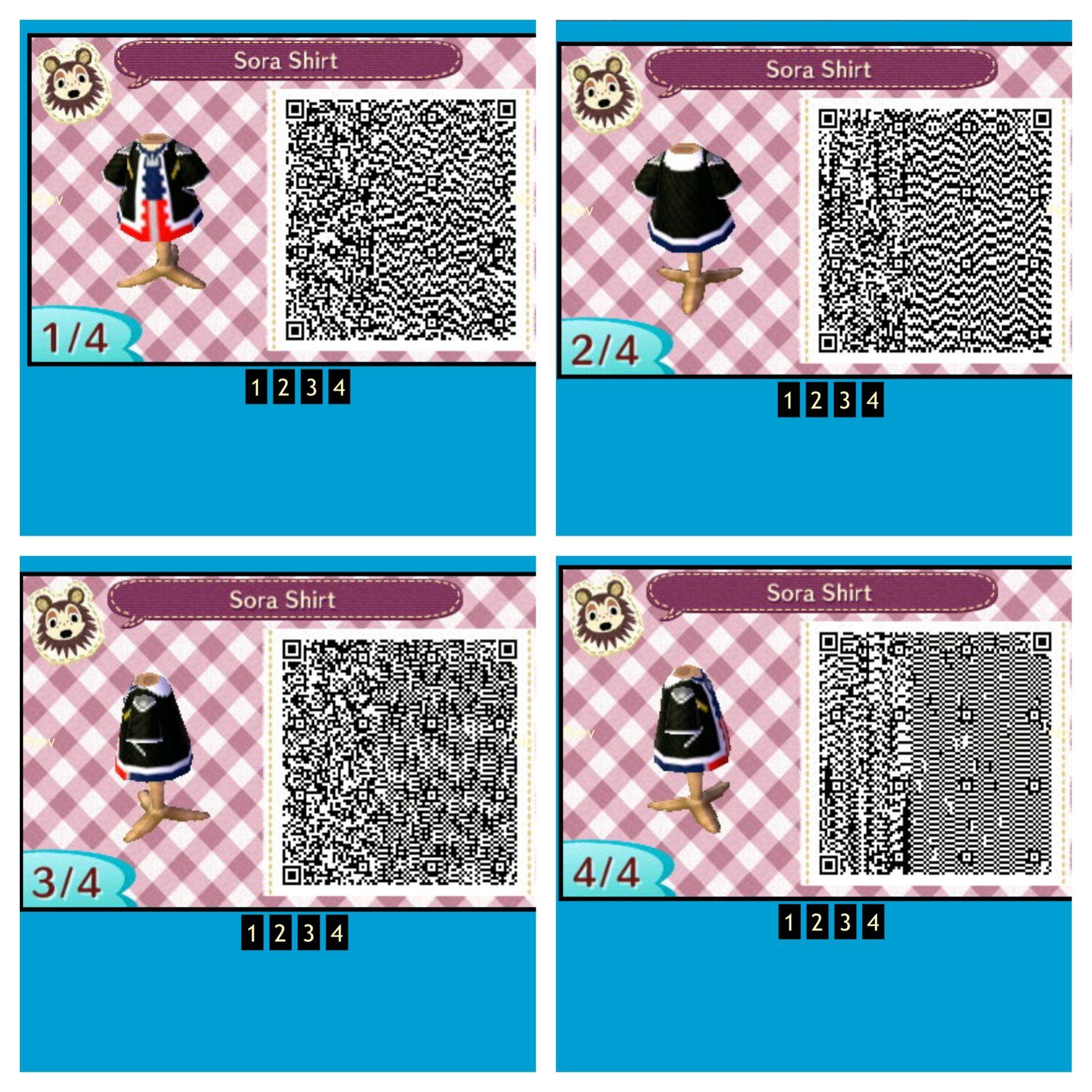 Animal Crossing New Leaf Qr Code Sora Shirt Animal Crossing Qr