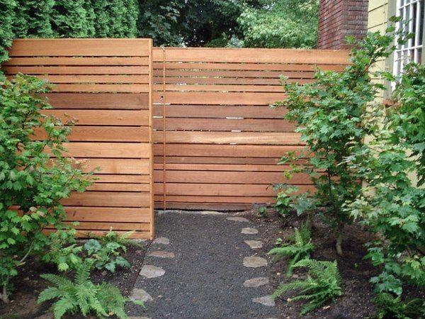 Japanese Wooden Screen For Garden Wall