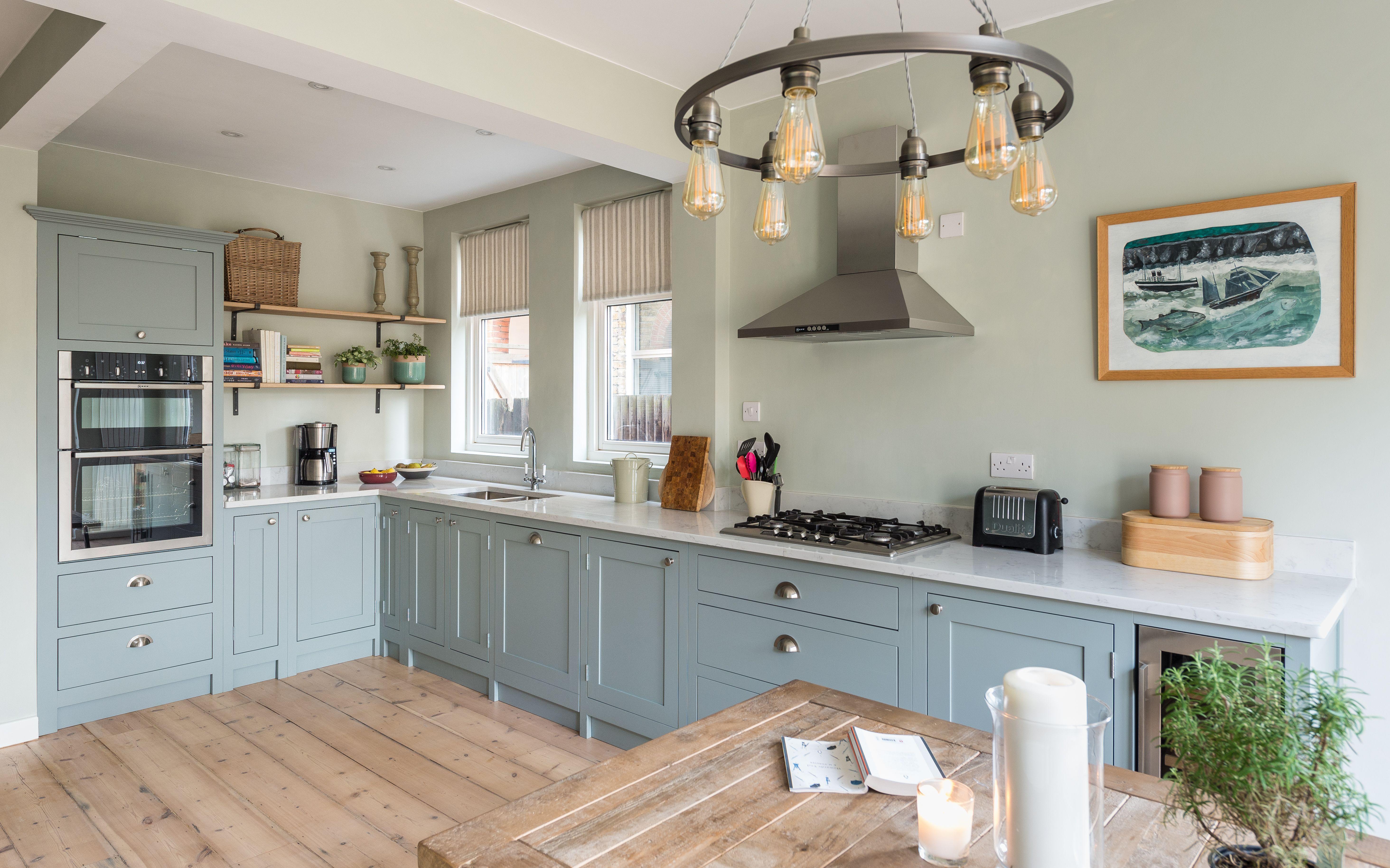 Pale Blue Shaker Kitchen Blue Shaker Kitchen Shaker Style Kitchens Kitchen Refurbishment