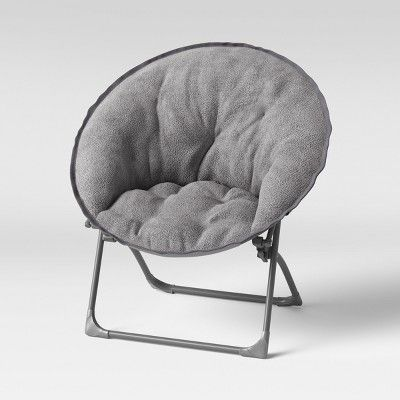Strange Fuzzy Kids Saucer Chair Gray Pillowfort Products In 2019 Pabps2019 Chair Design Images Pabps2019Com