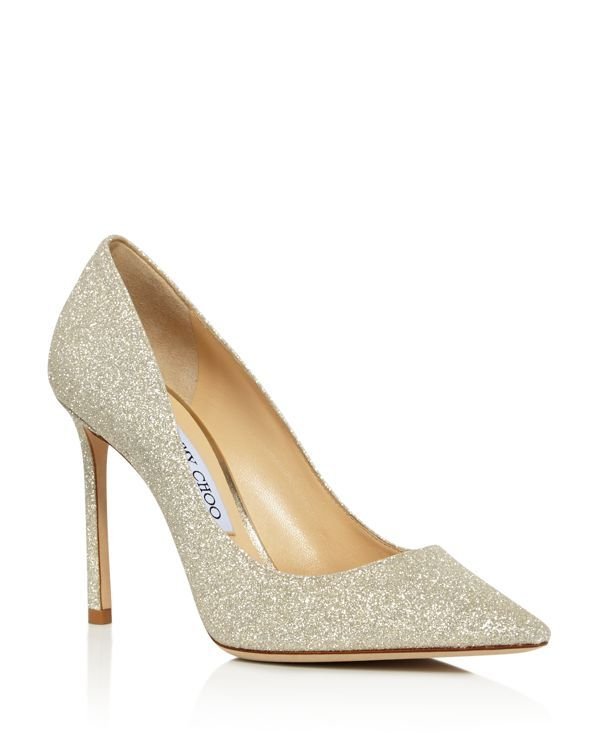 Jimmy choo Women's Romy 100 Ombre Glittered Leather Pointed Toe High-Heel Pumps qlgzNrRfY