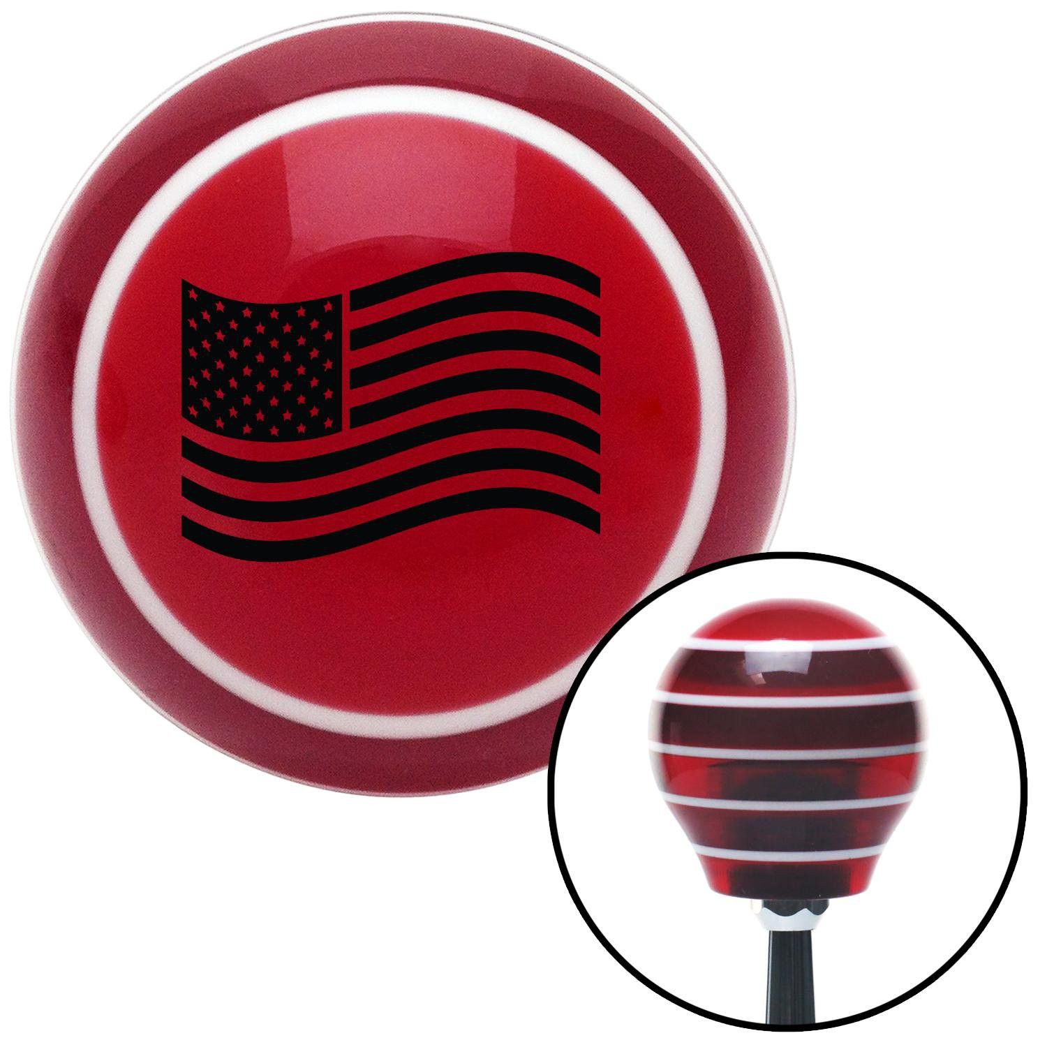 Black US Flag Red Stripe Shift Knob with M16 x 15 Insert - Give your interior the ultimate look. American Shifter's Elite(TM) series shift knobs are made from the highest quality components resulting in a superior feel on every shift. Each shift knob is designed and customized in the USA by skilled shift knob artisans who have a trained eye on every detail. American Shifters shift knobs offers an exclusive aluminum threaded insert designed to be screwed onto your shift arm. You should avoid…