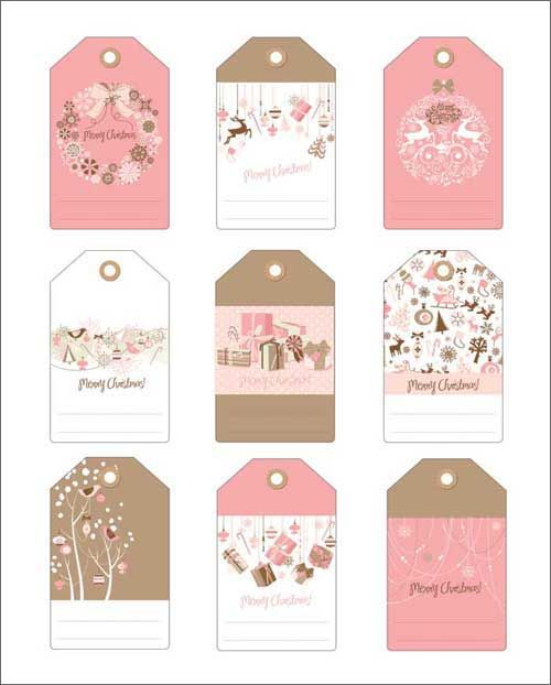 2 sets of free christmas gift tags in pink and blue kaledos free printable christmas gift tags in pink and blue negle Images