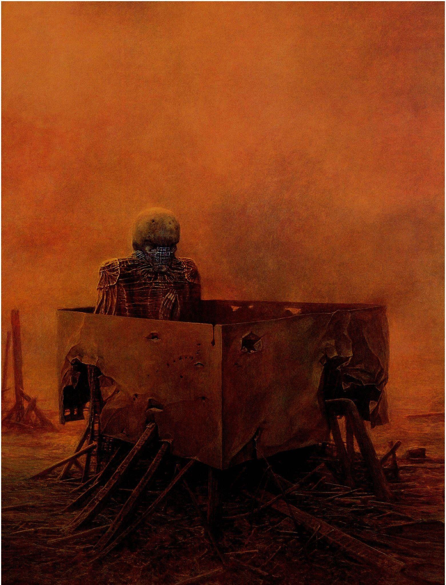 Zdzisław Beksiński  #Polska #Art #SciFi #ScienceFiction #Dystopia #Lovecraft #Macabre