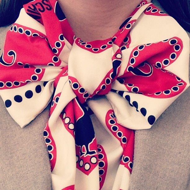 Photo by c_veronique #moschino #scarf #mymoschino