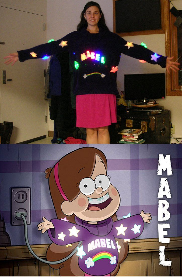 gravity falls mabel halloween costume with lightsredcrosseknight