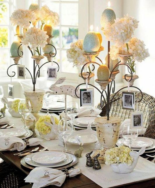 Elegant Easter Dinner Tablescape | Dining table ...