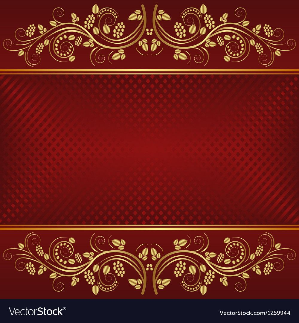 Dark Red Background With Golden Ornaments Download A Free Preview Or High Quality Adobe Illustrat Dark Red Background Red Background Wedding Background Images