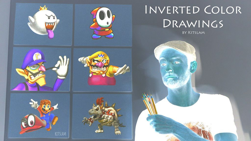 Inverted Pencil Color Drawing Collection Inverted Drawings