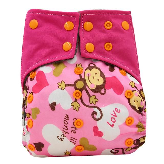 Diaper Pouch with Two Zipper Baby Cloth Diaper for Baby Toddler Kids