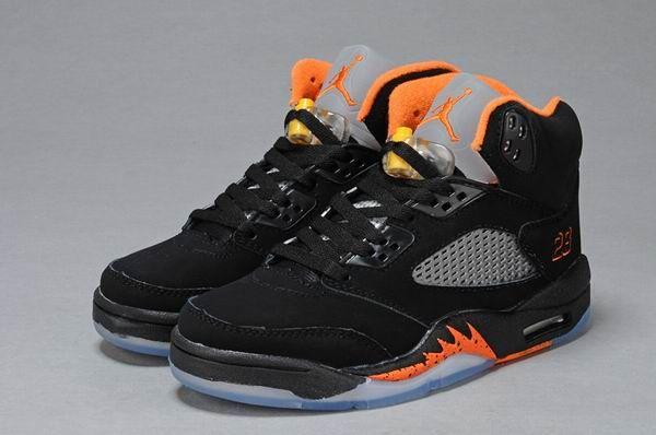 Air Jordan Retro 5 A BlackOrange Women's shoes | Air Jordan