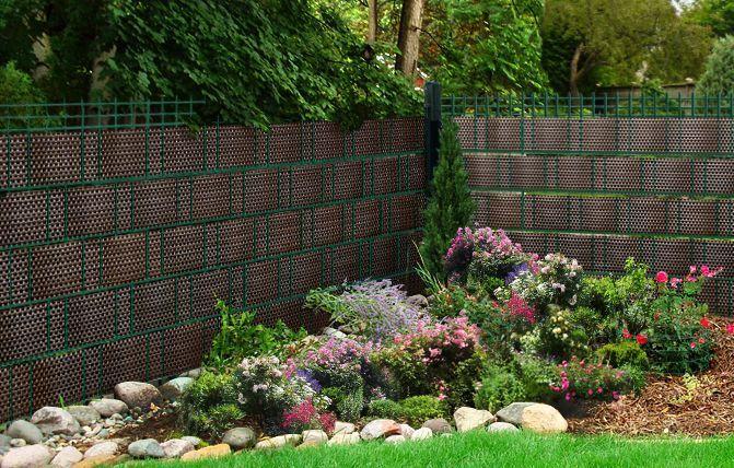 Sichtschutz Sichtschutzstreifen Zaunblende Aus Pe Rattan Dunkelbraun Garten Pflegeleichter Garten Gartenarbeit