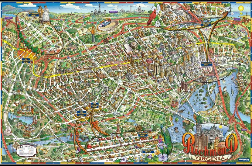 richmond discovery map illustration by maria rabinky lissie