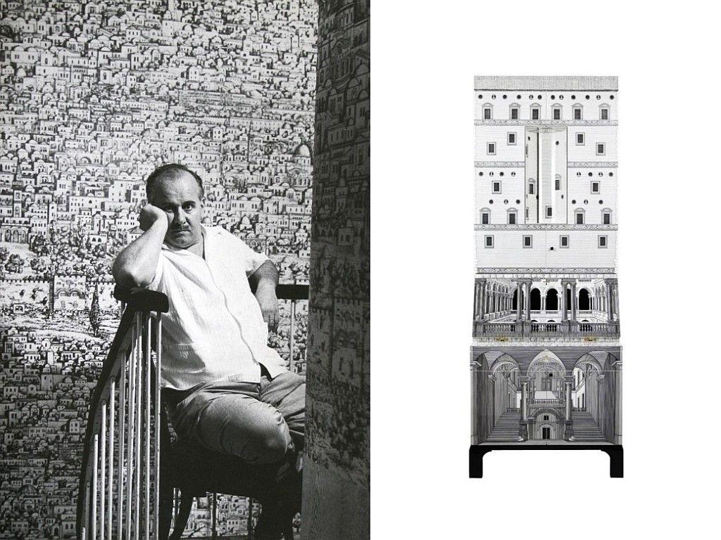 Piero Fornasetti | Trumeau Architettura