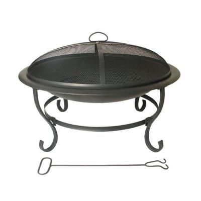 Round Wrought Iron Fire Pit DS 16595 At The Home Depot