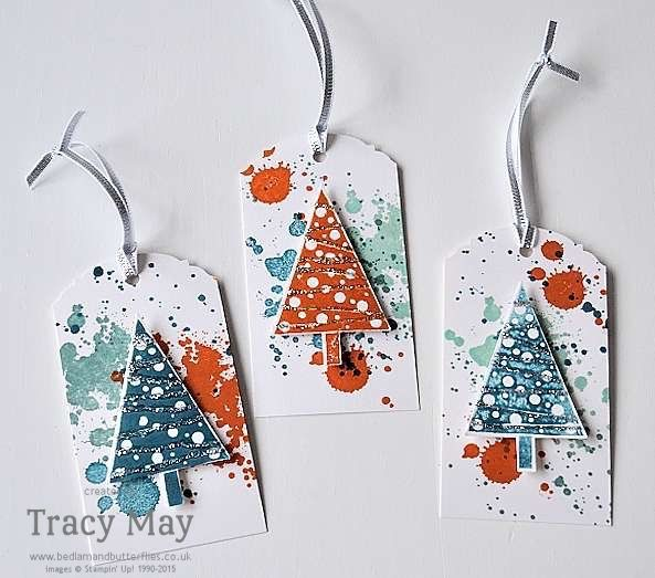 Scrapbooking Paper crafting bags Christmas Pine Tree with Presents by Hero Arts Great gift for her! Great for Card making Tags