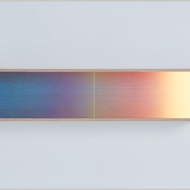 The Japanese designer Daisuke Kitagawa (@d_kitagawa) punctuated an otherwise-understated collection of furnishings at #SaloneDelMobile with color-shifting wall shelves whose sliding doors are polarized like sunglass lenses.