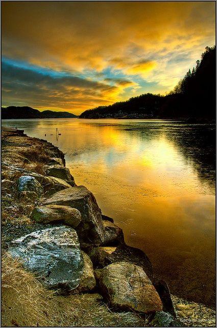Nordic sunset beautiful