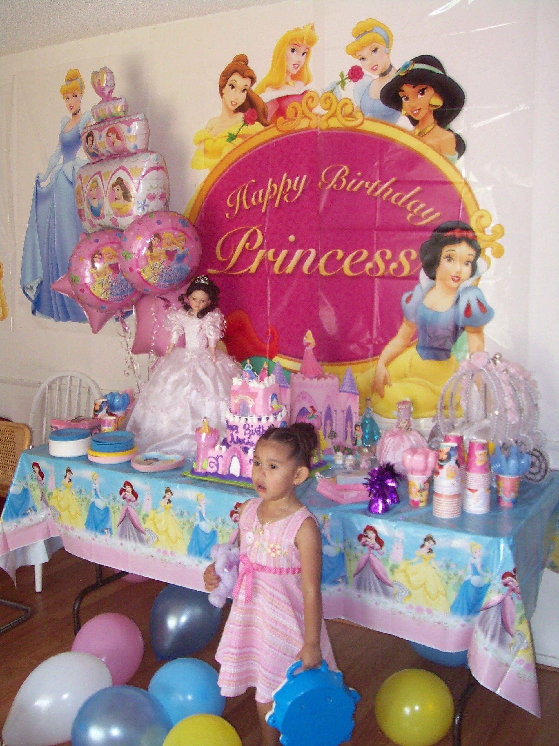 Disney Princess Cake Table Birthday Party Girl