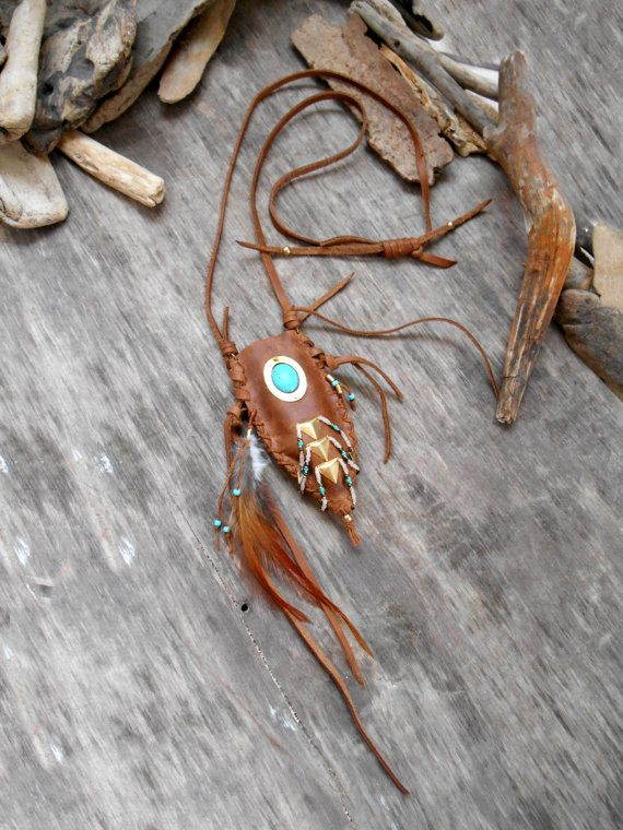 Necklace Quot Native American Pouch Medicine Bag Inspired