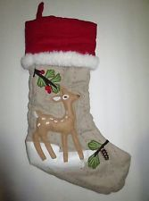 Pottery Barn Kids Stocking Woodland Christmas snowy Reindeer