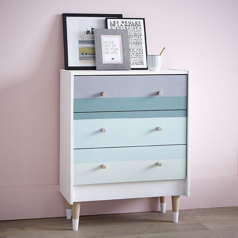 commode peinte d coration du meuble ideas for home pinterest commodes peintes commodes. Black Bedroom Furniture Sets. Home Design Ideas